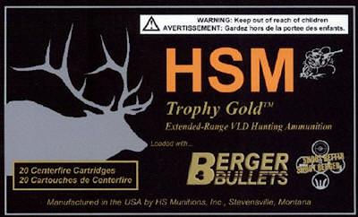 HSM BER270130VLD Trophy Gold 270 Win 130 GR BTHP 20 Bx/ 1 Cs