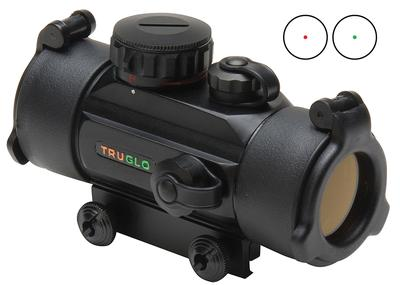 Truglo TG8030DB Red Dot 1x 30mm Obj Unlimited Eye Relief 5 MOA Black