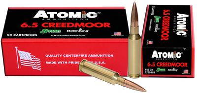 Atomic 00404 Match 6.5 Creedmoor 142 GR MHP 20 Bx/ 10 Cs