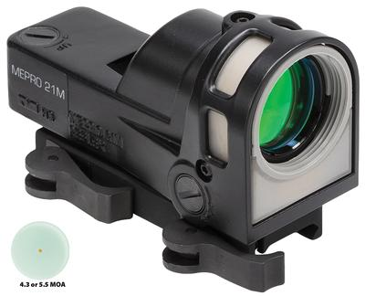Meprolight M21D5 M-21 1x 30mm Obj Unlimited Eye Relief 5.5 MOA Black