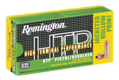 Rem Ammo RTP9MM6 HTP 9mm 115GR Jacketed Hollow Point 50Bx/10Cs