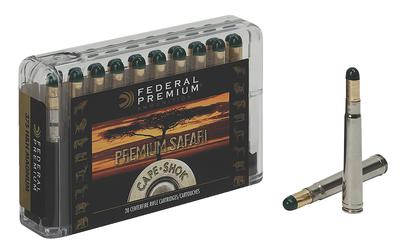 Federal P458LWH Cape-Shok 458 Lott Woodleigh Hydro Solid 500 GR 20Box/10Case
