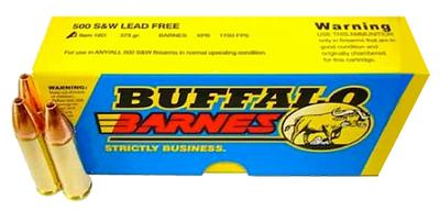 Buffalo Bore Ammo 18D/20 500 S&W Lead-Free Barnes XPB 375GR 20Box/12Case