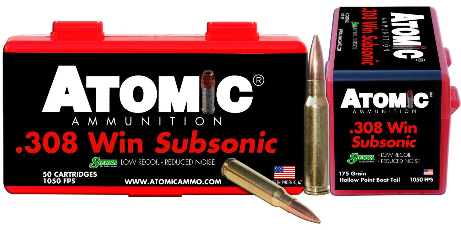 Atomic 00430 Subsonic 308 Winchester/7.62 Nato 175 Gr Subsonic 50 Bx/10 Cs