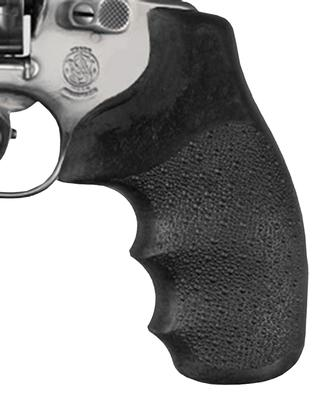 Hogue 60100 S&W J Frame Round Butt Nylon Grip w/Finger Grooves Black