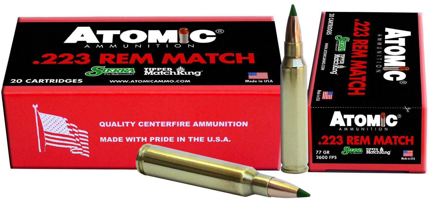 Atomic 00459 Match 223 Remington/5.56 Nato 77 Gr Tipped Matchking 20 Bx/10 Cs