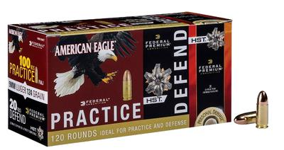 Federal PAE40180HST Personal Defense 40 Smith & Wesson 180 GR  Full Metal Jacket (100)/HST(20)  120 Bx/4  Cs