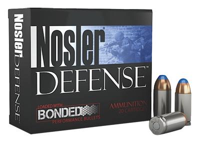 Nosler 38432 Performance Bonded 9mm+P Hollow Point 124 GR 20Box/10Case