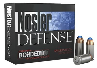 Nosler 39515 Performance Bonded 40 S&W Bonded Tipped 200 GR 20Box/10Case