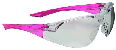 Champion Targets 55604 Slim Fit Shooting Glasses Clear Frame/Pnk Temple