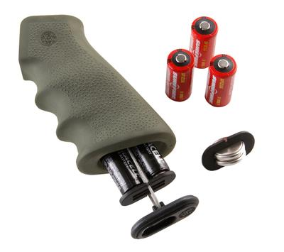 Hogue 15011 AR-15 Rubber Grip w/ Storage Kit Matte OD Green
