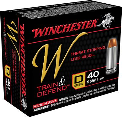 Winchester Ammo W40SWD W 40 Smith & Wesson 180 GR Jacketed Hollow Point 20 Bx/ 10 Cs