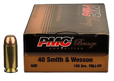 PMC 40DBP Battle Pack 40 Smith & Wesson 165 GR Full Metal Jacket 300 Bx/ 3 Cs
