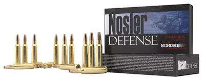 Nosler 39685 Defense Rifle 308 Win/7.62 NATO Bonded Solid Base 168GR 20Box/10Cas