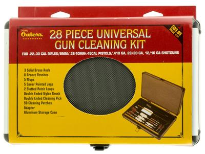 Outers 70083 Gun Care Case 28 Piece Universal .22 Cal Cleaning Kit