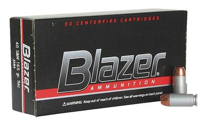 CCI 3589 Blazer 40 S&W 165 GR Total Metal Jacket 50 Bx/ 20 Cs