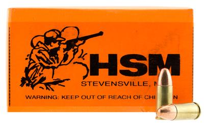 HSM 9MM2R Training 9mm Luger 115 GR FMJ 50 Bx/ 20 Cs