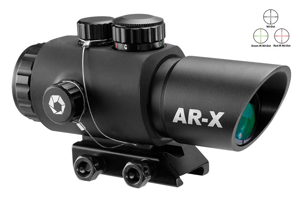 Barska Ac12146 Ar- X 3x 30mm Obj Illuminated Mil- Dot Ir Reticle 2.75