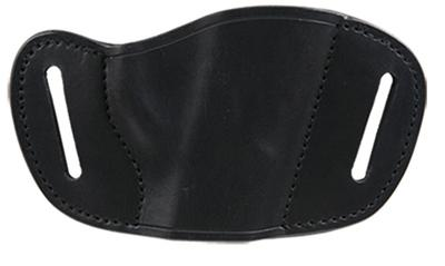Bulldog MLBS Belt Slide Small Automatic Handgun Holster Right Hand Leather Black