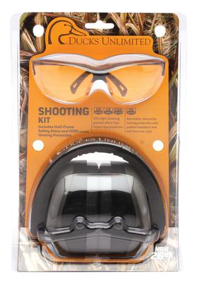 Pyramex DUCOMBO5740 Combo Kits PM8010 Earmuff/Shooting Glasses 26 dB Black/Orange