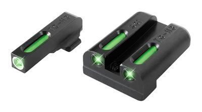Truglo TG13SG1A TFX Day/Night Sights Sig Sauer Tritium/Fiber Optic Green w/White Outline Front Green Rear Black