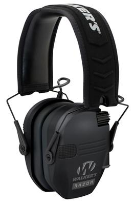 Walkers Game Ear GWPRSEM Razor Slim Shooter Folding Earmuff 23 dB Black