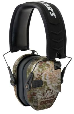 Walkers Game Ear GWPRSEMKPT Razor Slim Shooter Folding Earmuff 23 dB Kryptek Highlander