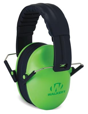 Walkers Game Ear GWPFKDMLG Passive Baby & Kids Folding Earmuff 23 dB Green