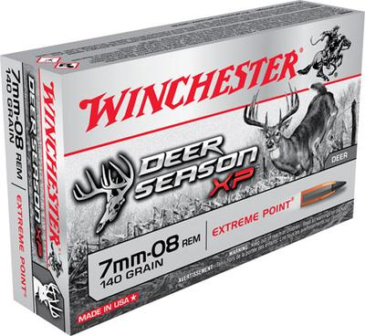 Winchester Ammo X708DS Deer Season XP 7mm-08 Remington 140 GR Extreme Point 20 Bx/ 10 Cs