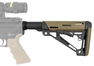 Hogue 15345 AR-15 Rifle Polymer Tan Buttstock Kit