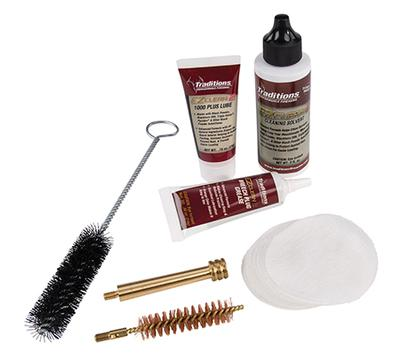 Traditions A3960 EZClean2 Muzzleloader Cleaning Kit  Brushes/Cleaner/Patches 7pc
