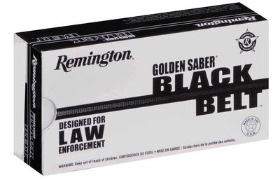 Remington Ammunition GSN40SWCB Golden Saber 40 Smith & Wesson 180 GR Jacketed Hollow Point 20 Bx/ 25 Cs