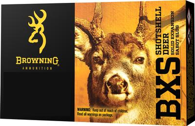 Browning Ammo B192402701 BXS Solid Expansion 270 Winchester 130 GR Lead-Free 20 Bx/ 10 Cs