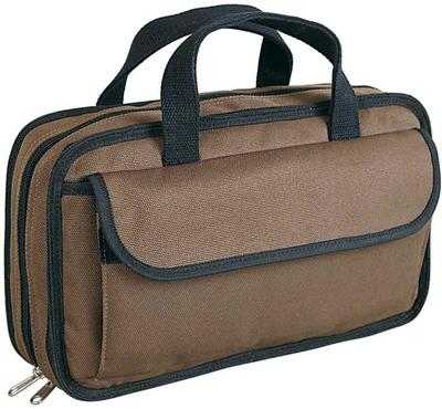 ALLEN 50-15  BROWN ENDURA DOUBLE HANDGUN CASE