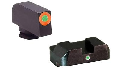 AmeriGlo GL5201 i-Dot Night Sight Glock 17/19/19x/26 Gen5 Green Tritium w/Orange Outline Tritium Green Black