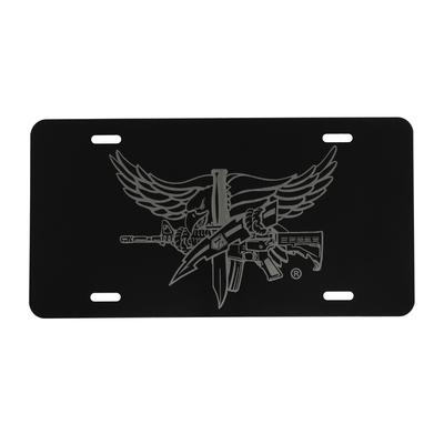 SWAT Operator Lasered License Plate