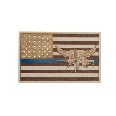 SWAT Operator Wood Flag Sign