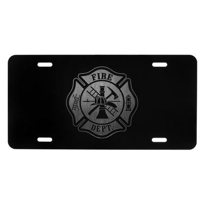 FIRE DEPT LOGO LICENSE PLATE