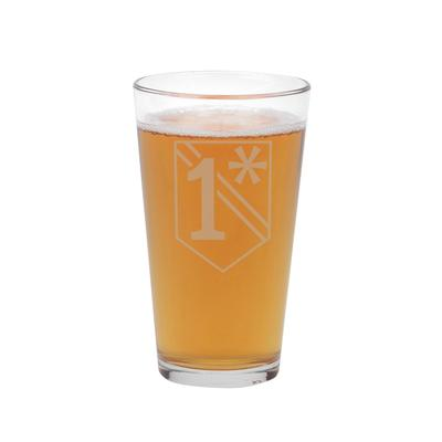 1 ASTERISK PINT GLASS