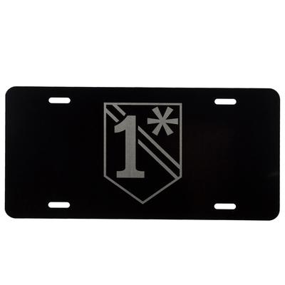 1 ASTERISK LICENSE PLATE
