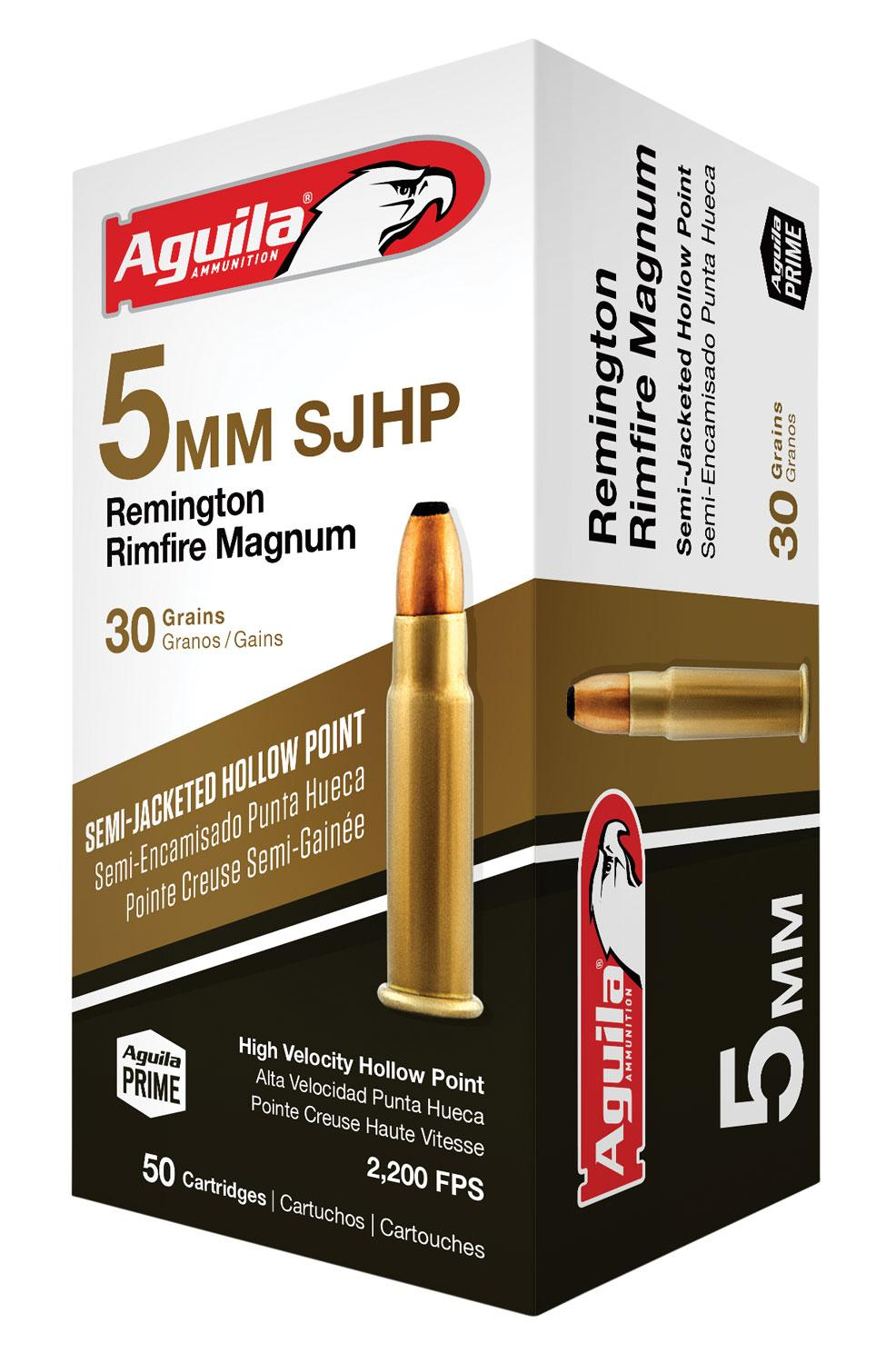 Aguila 1b222405 5mm Remington Rimfire Magnum (Rfm) 30 Gr Hollow Point 50 Bx/20 Cs