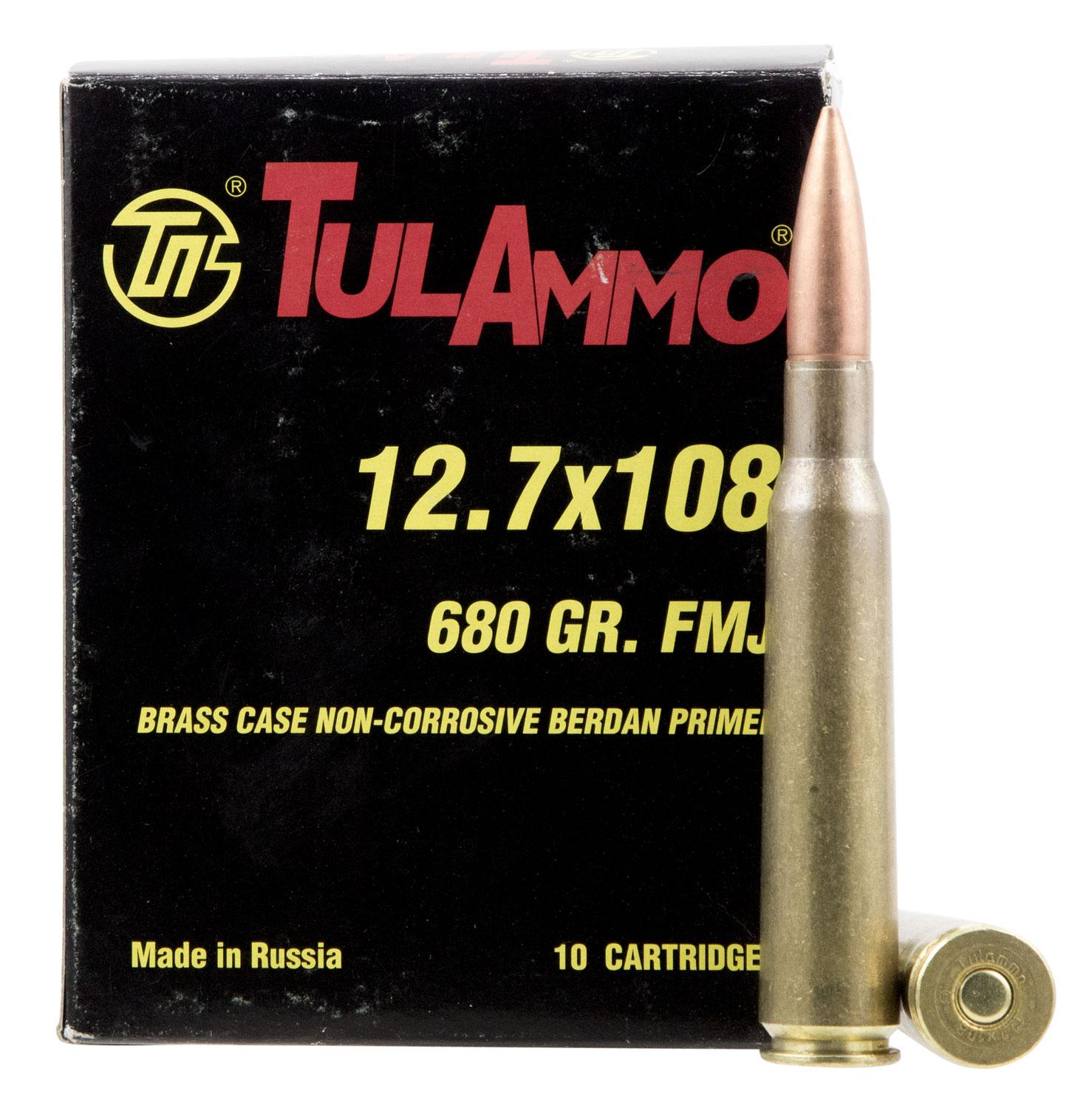 Tulammo Ta127101 Centerfire Rifle 12.7x108mm 680 Gr Full Metal Jacket 10 Bx/6 Cs