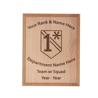 1 ASTERISK WOOD PLAQUE