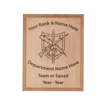 Tactical Patrol Officer Wood Plaque