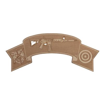Patrol Rifle Qualification Tab Wood Sign