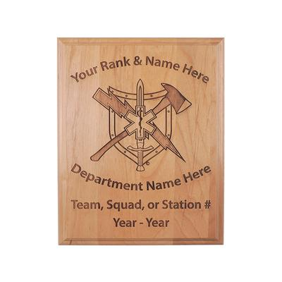 RESCUE TASK FORCE WOOD PLAQUE
