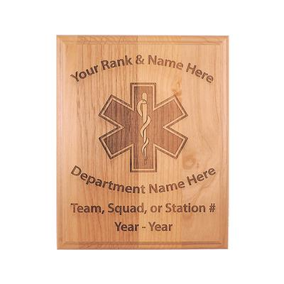 EMS WOOD PLAQUE