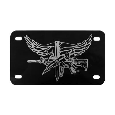 SWAT Operator Lasered Motorcycle License Plate