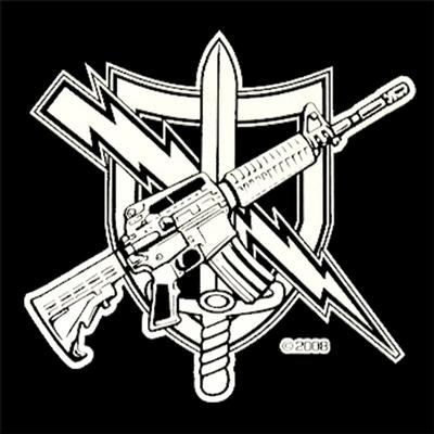 CLEARANCE - Tactical Patrol Officer Decal - White