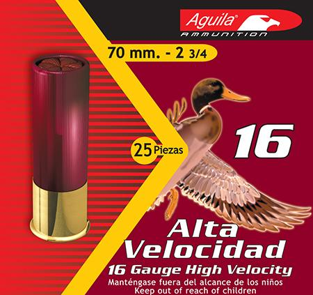 Aguila 1chb1607 Hunting High Velocity 16 Gauge 2.75